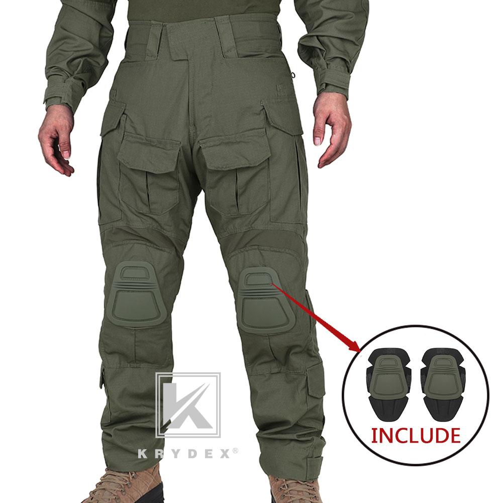 KRYDEX G3 Combat Trouser with Knee Pads Tactical Pants Painball Como Multicam